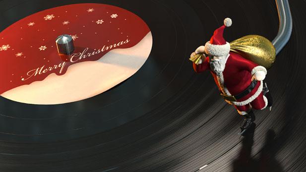 Turntable Santa